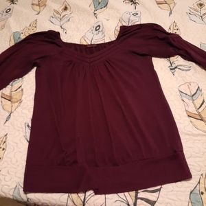 Plum colored blouse